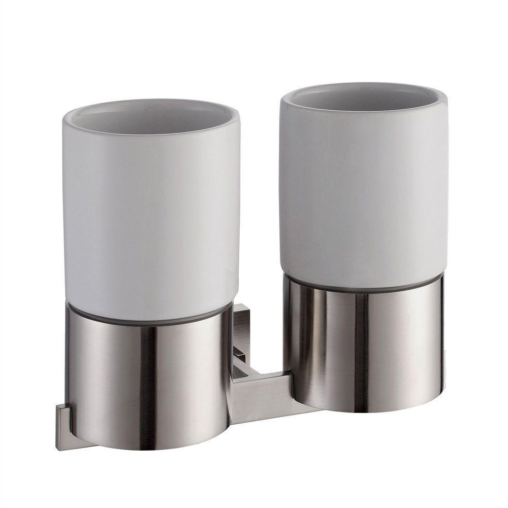 Accessoires pour salle de bains kraus aura porte gobelet for Porte gobelet salle de bain