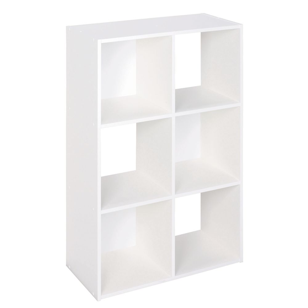 White Stackable 6 Cube Organizer