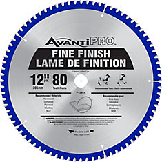 12-inch x 80-Tooth Fine Finish Saw Blade (2-Pack)