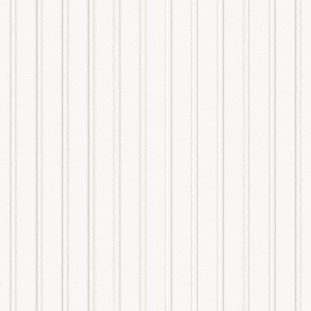 Martha Stewart Living Beadboard White Paintable Wallpaper