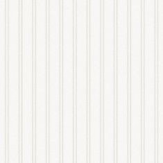 Beadboard White Paintable Wallpaper