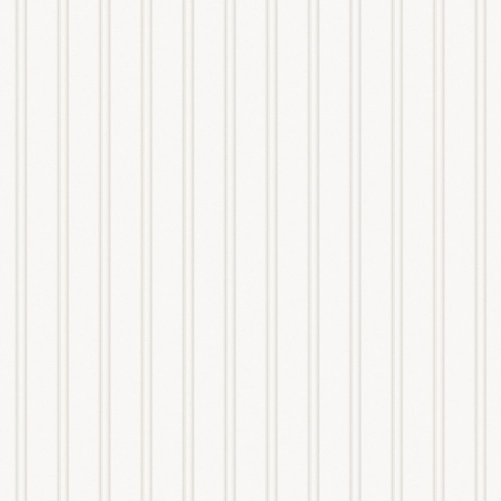 Beadboard White Paintable Wallpaper
