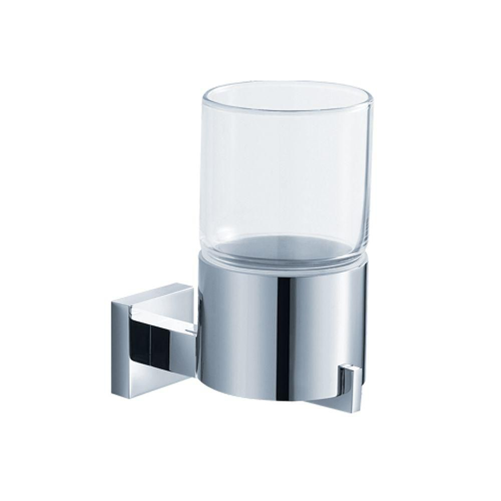 Aura Bathroom Accessories - Wall-Mounted Glass Tumbler Holder