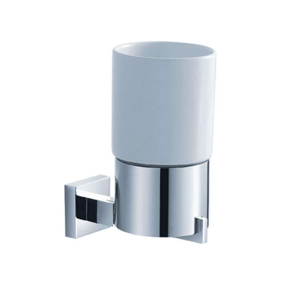 Aura Bathroom Accessories - Wall-Mounted Ceramic Tumbler Holder