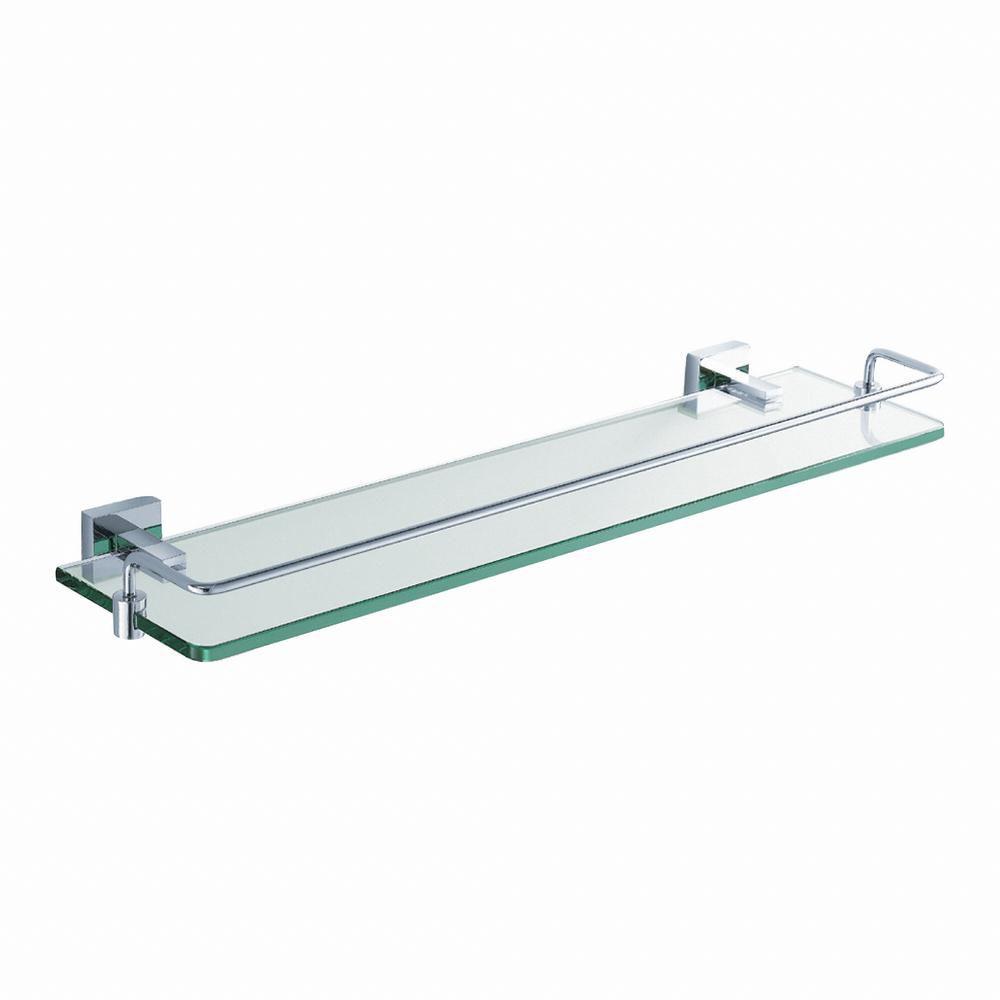 Aura Bathroom Accessories - Shelf with Railing