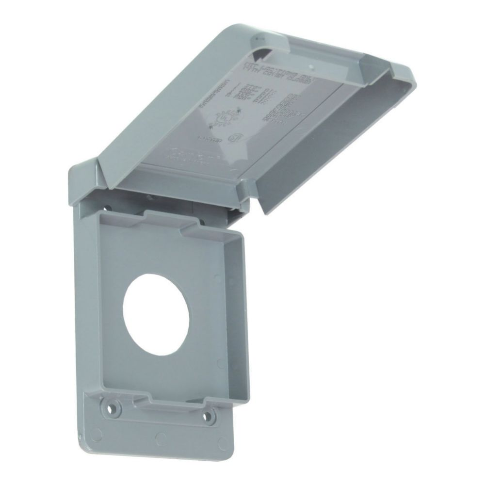 Outdoor Weatherproof  PVC Single Gang 15 AMP Receptacle Cover