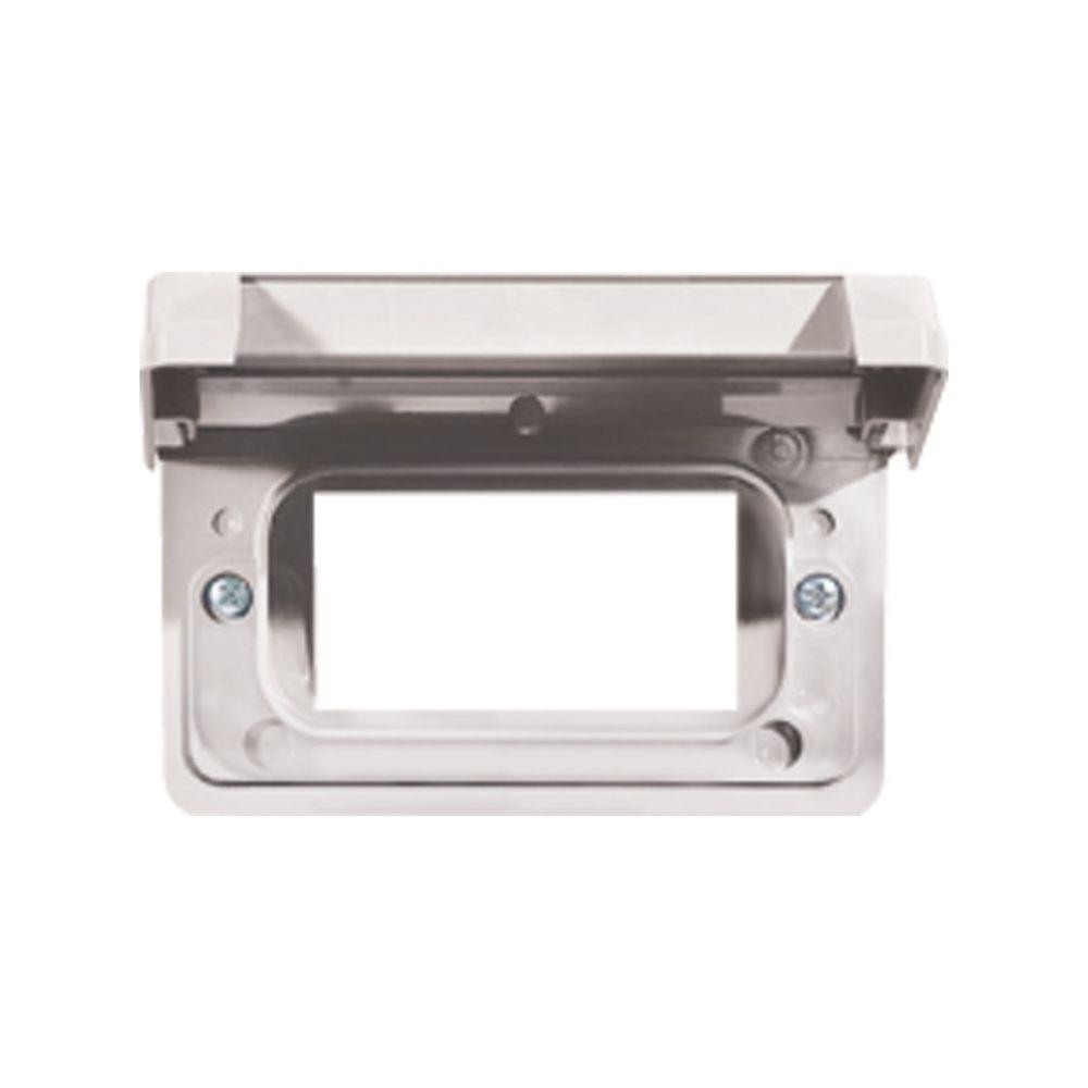 Couvercle Horizontal Étanche En PVC  Pour Prise DDFT  Blanc