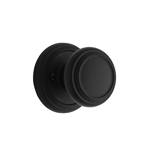 Weiser Wickham Inactive Knob, Iron Black Finish