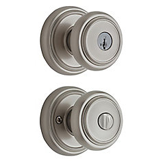 Wickham Satin Nickel Keyed Entry Knob with SmartKey
