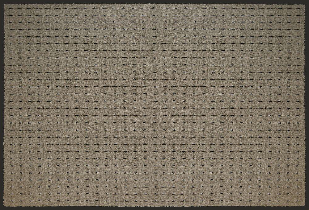 Pindot Vinyl Backed Khaki, 3  Feet x 4  Feet