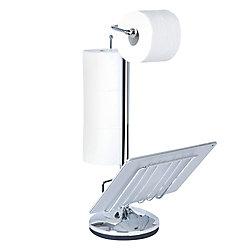 Toilet Caddy Porte-accessoires «the Toilet», chrome