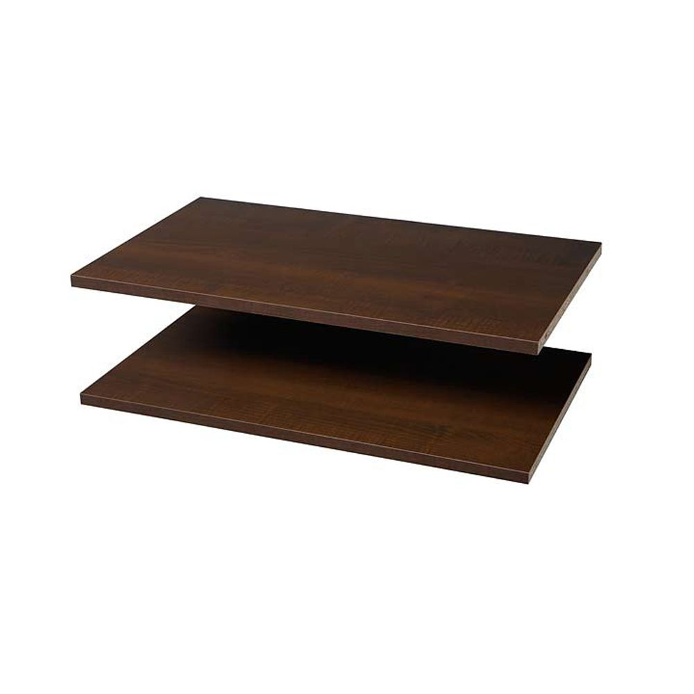 Shelves 2-Pack, 24 Inches - Espresso