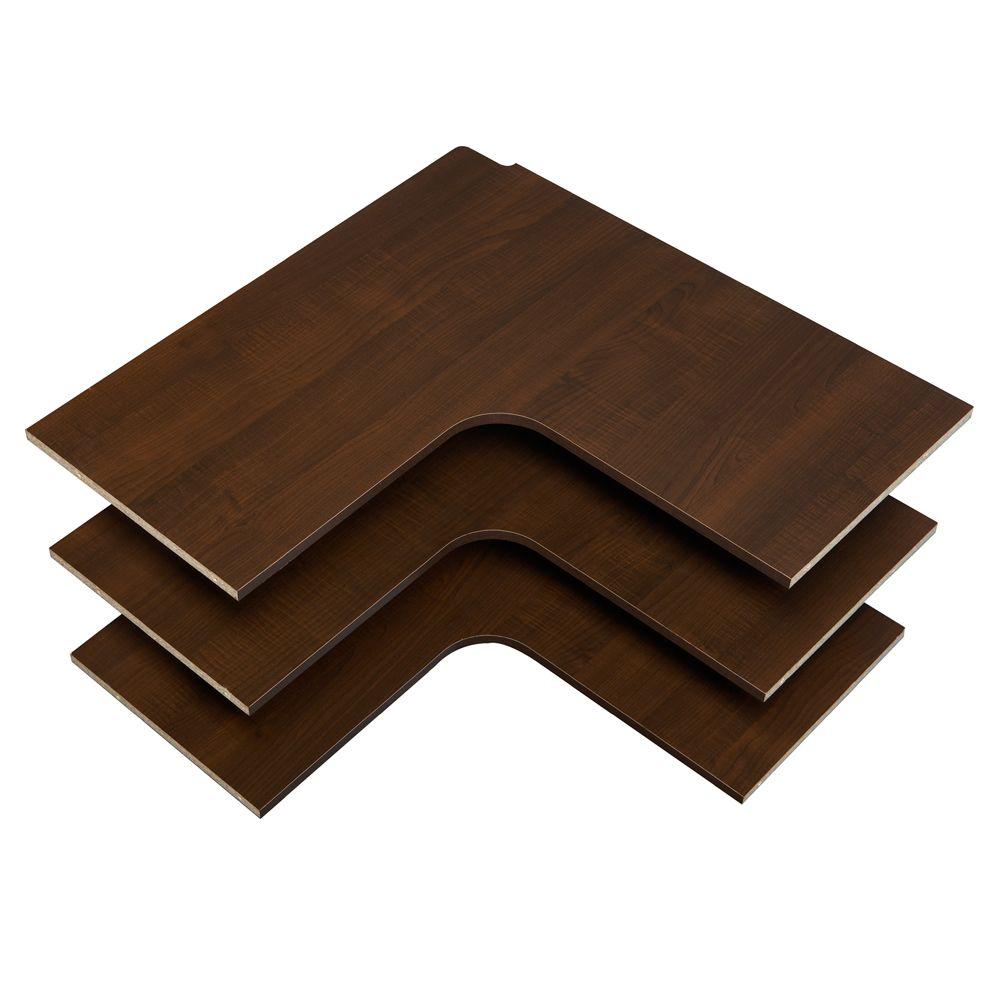 Corner Shelves - Espresso
