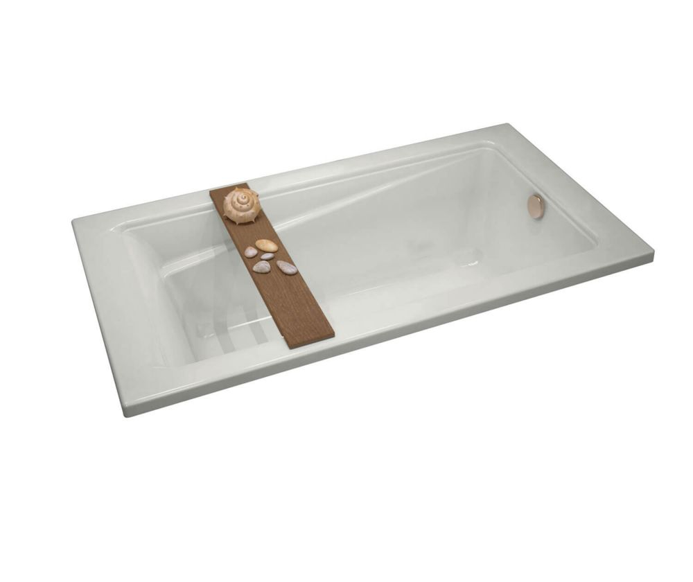 Maax loft 6032 acrylic soaker bathtub in white the home for Acrylic soaker tub