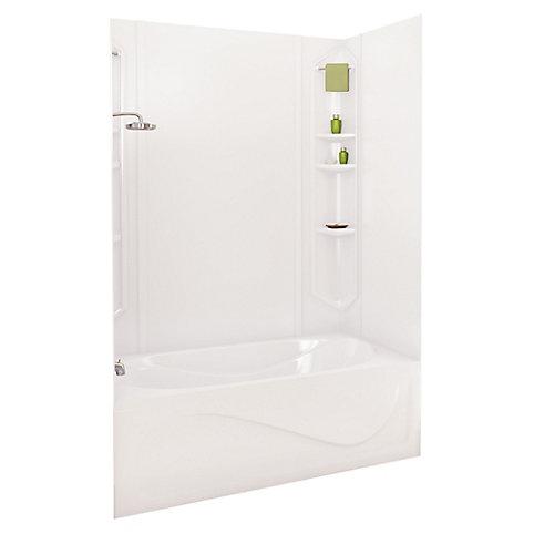 MAAX White Margarita Acrylic Tub Wall Kit 73 Inches | The Home Depot ...