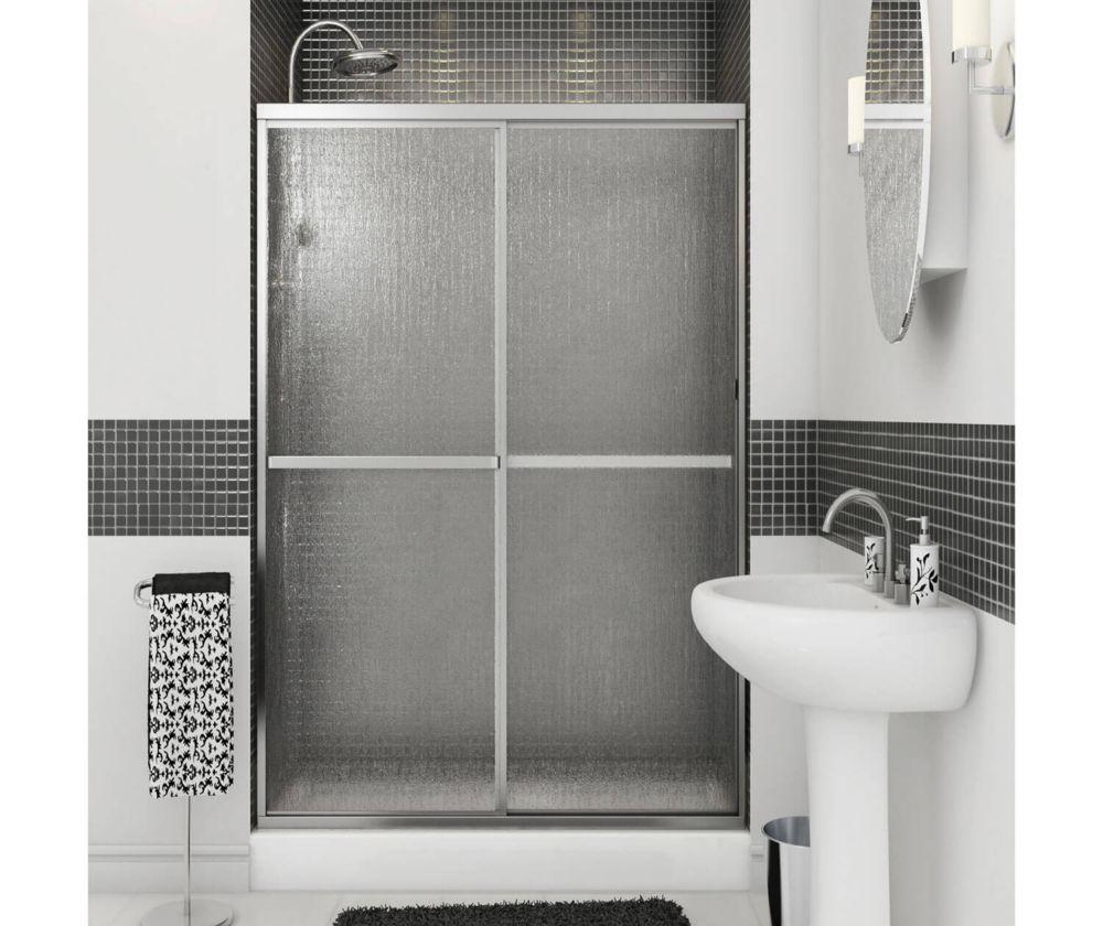 Soul - Porte de douche  2 panneaux avec cadre chrome 47 1/2 pouces