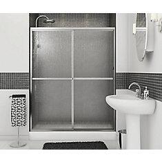 Soul 2-Panel Chrome Framed Shower Door 59 1/2 Inches