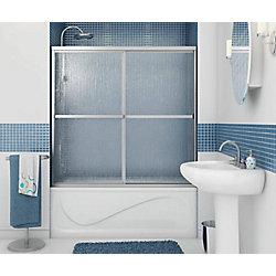 MAAX Soul -Porte de baignoire-douche 2 Panneaux avec cadre chrome 59 1/2 pouces