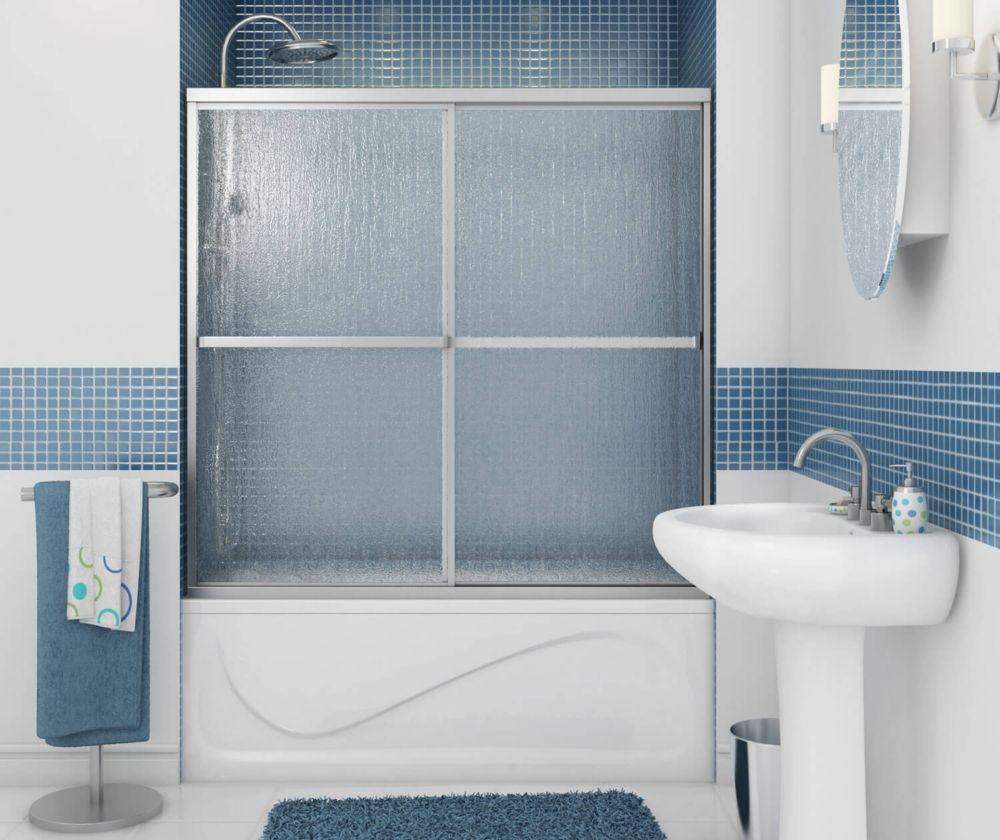 Soul 2-Panel Chrome Framed Tub Door 59 1/2 Inches