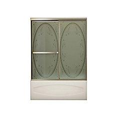Vertiga 2-Panel Satin Nickel Tub Door