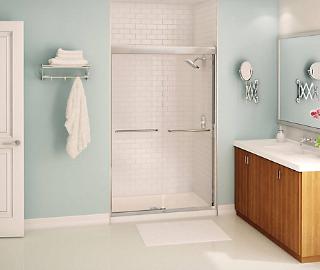 MAAX Tonik 2-Panel Frameless Shower Door 47 1/2 Inches | The Home ...
