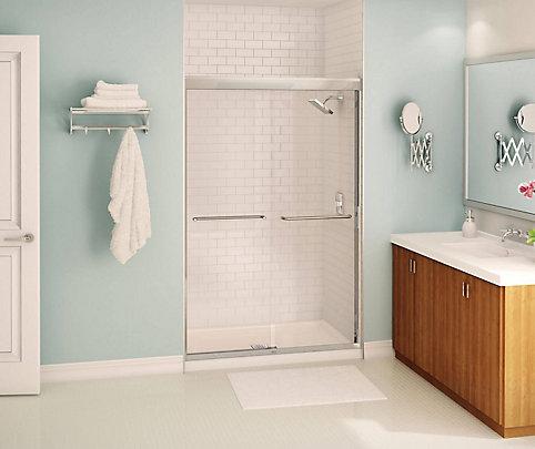 MAAX Tonik 2-Panel Frameless Shower Door 47 1/2 Inches | The Home ...