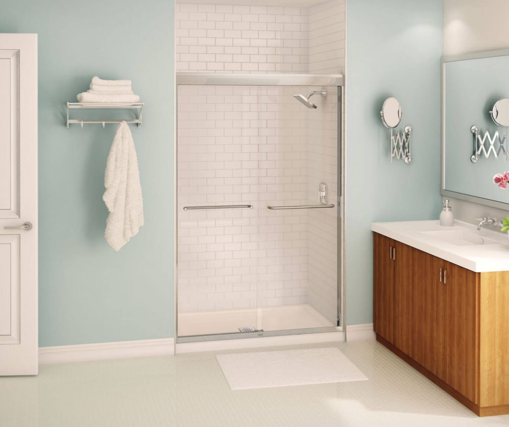 Tonik 2-Panel Frameless Shower Door 47 1/2 Inches