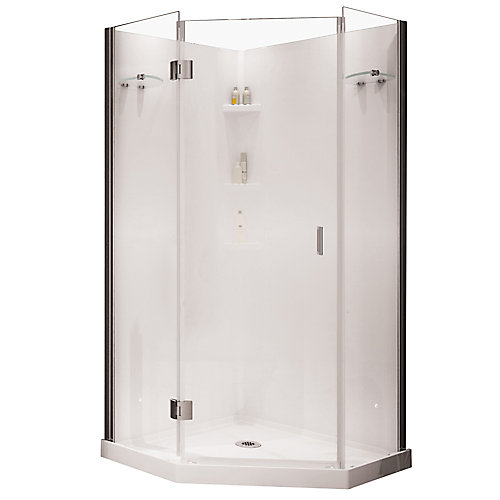 neo angle corner shower kits. Yarrow Neo Angle Polystyrene Frameless Shower Kit MAAX Cosmos 38 inch 3 Piece Corner Fit in White  The