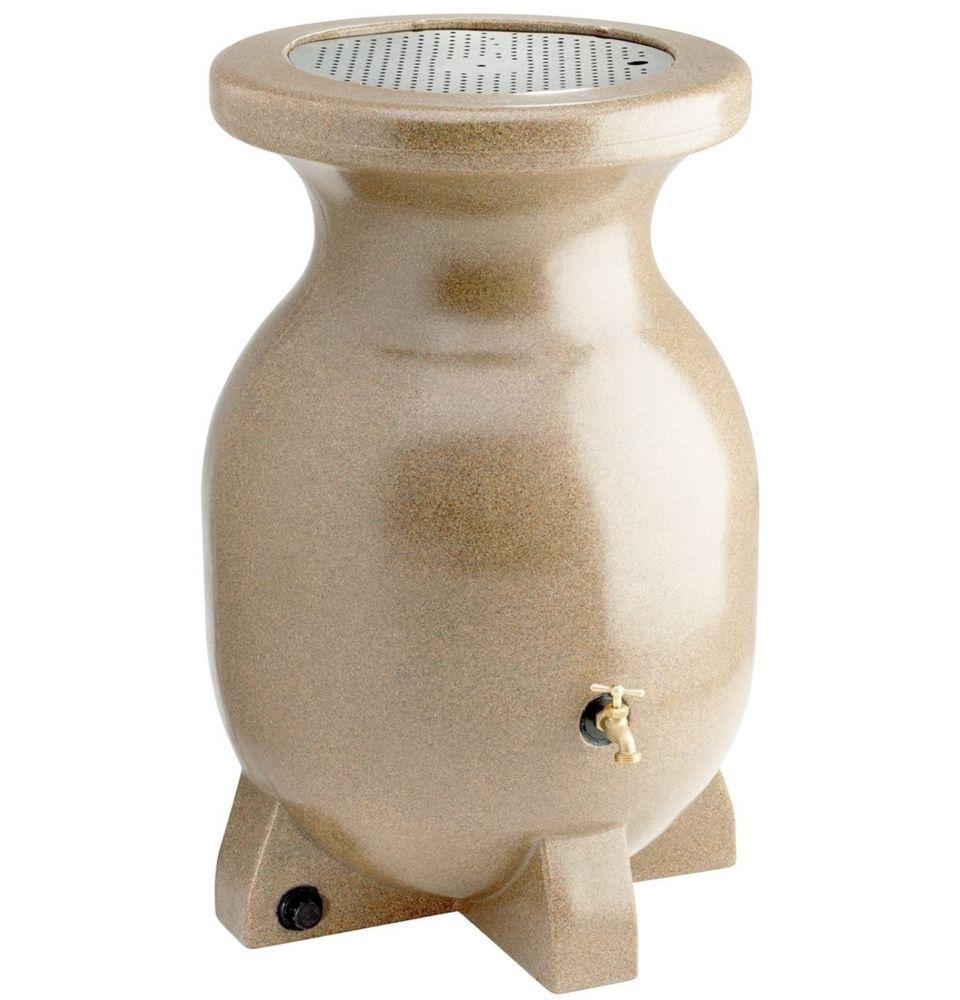 55 Gallon Sand-Stone-Look Rain Barrel