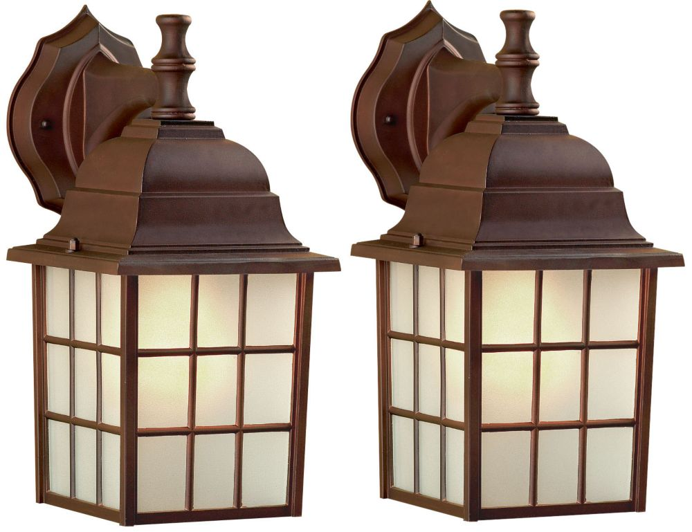 Colton 1 Light ORB Wall Lantern - Twin Pack, Frosted Glass