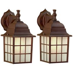 Canarm Ltd. Colton 1 Light ORB Wall Lantern - (2-Pack), Frosted Glass