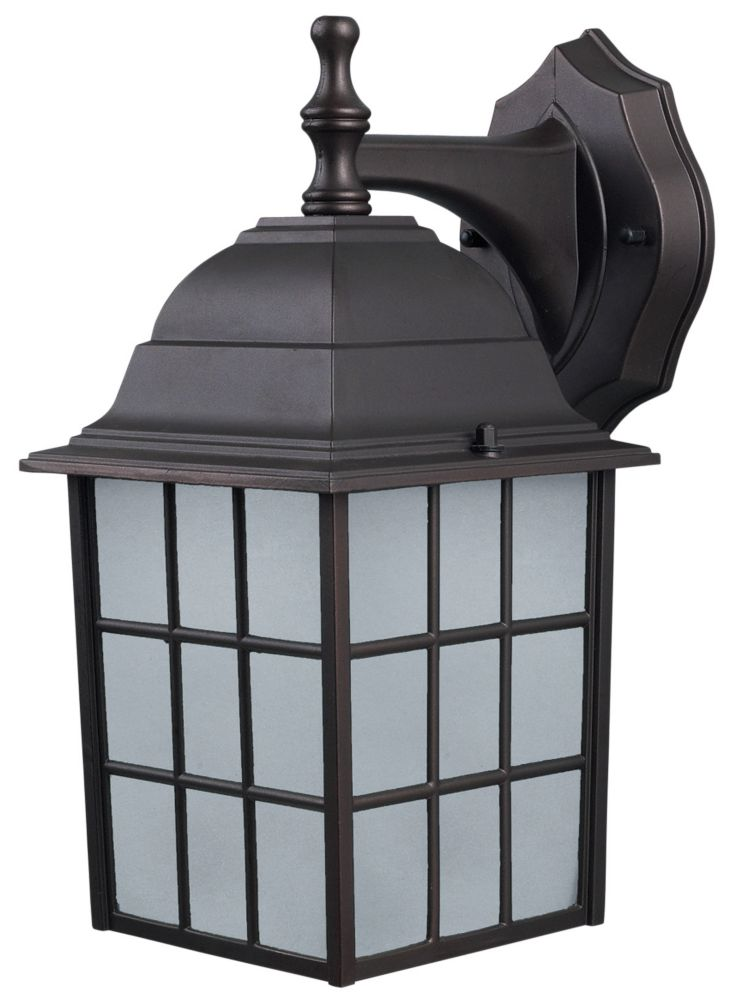 Colton 1 Light ORB Wall Lantern, Frosted Glass