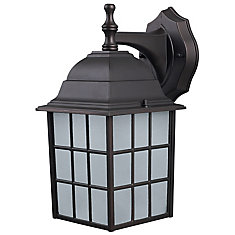 Colton 1-Light ORB Wall Lantern with Frosted Glass