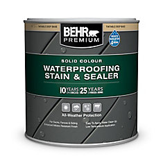 BEHR PREMIUM Solid Colour Deck, Fence & Siding Weatherproofing Wood Stain,  Deep Base, 215 mL