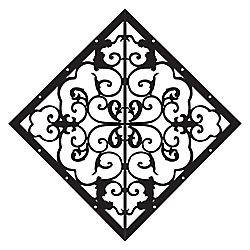 Stiles Élément décoratif en forme de losange pour porte et clôture