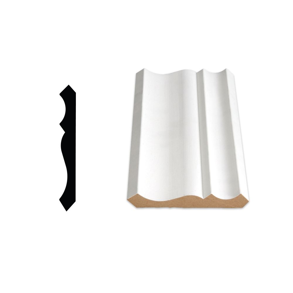 Painted Fibreboard Crown 5/8 Inches x 4-1/4 Inches (Price per linear foot)