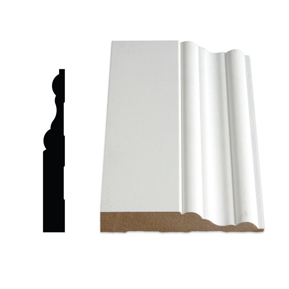 Painted Fibreboard Decosmart Base 5/8 In. x 4-1/16 In. (Price per linear foot)