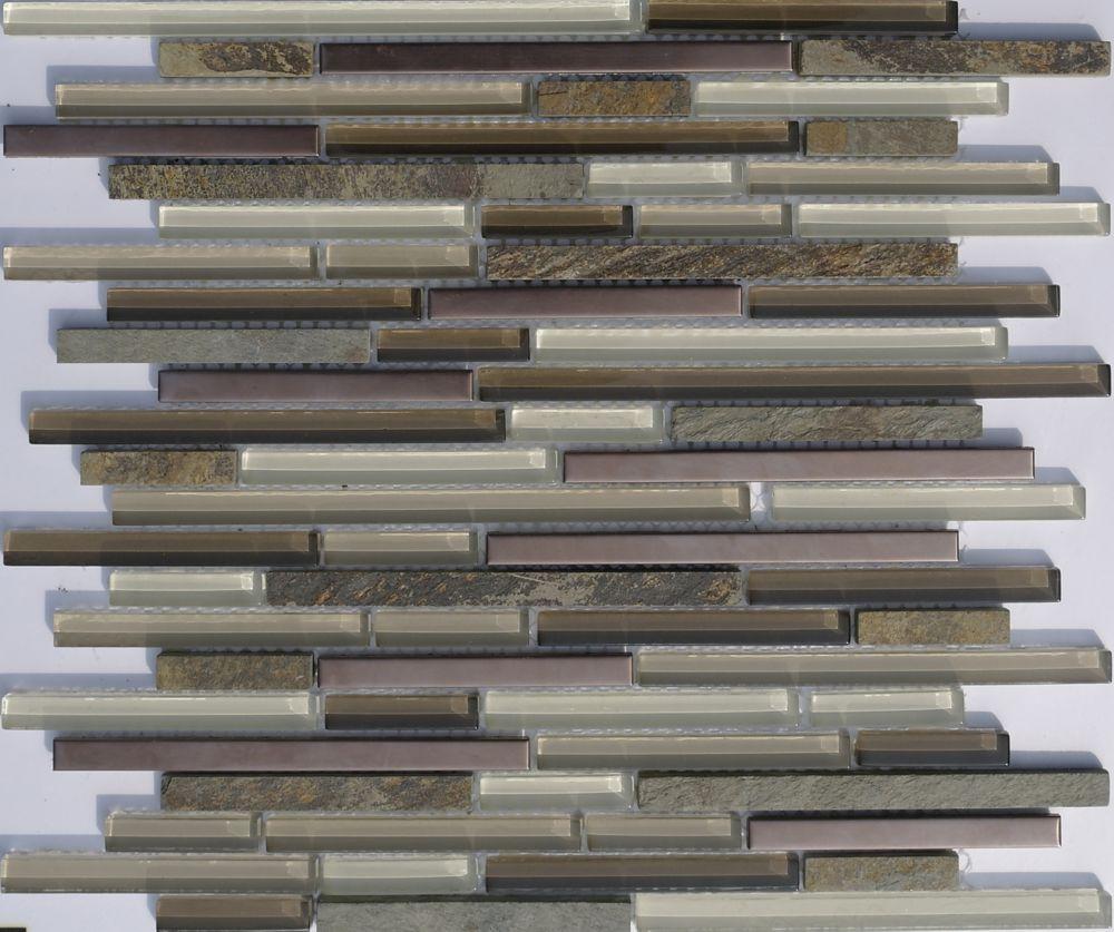 Glass/Stone/Copper Mix Mosaic Tile
