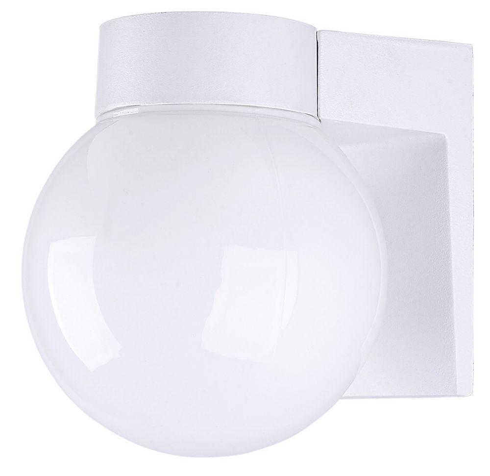 Amelia 1 Light White Energy Star Wall Lantern, Opal Glass