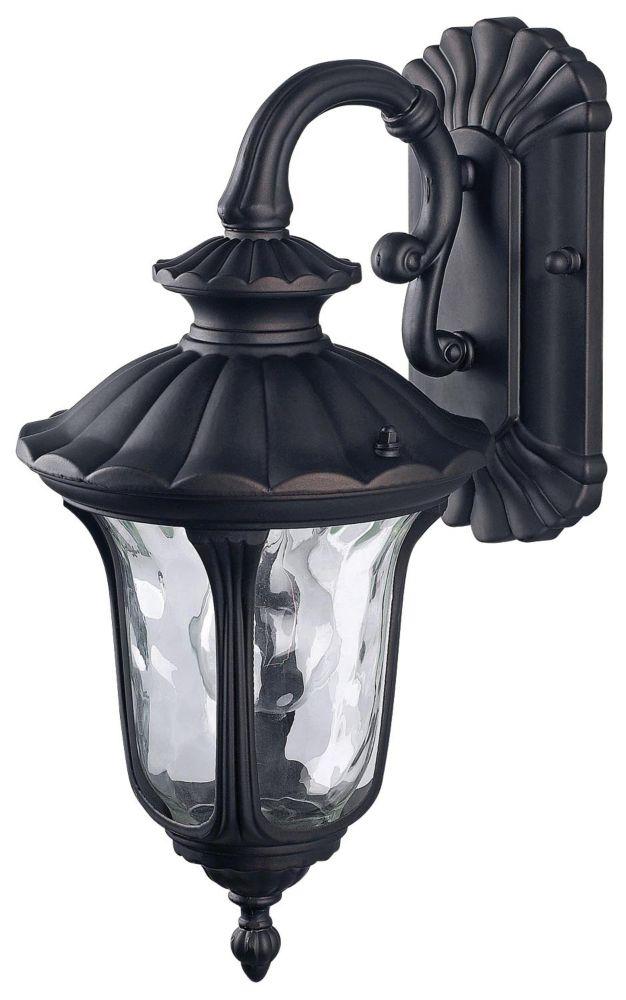 Jennifer 1 lanterne de mur bronze frottée par huile, verre de filigrane