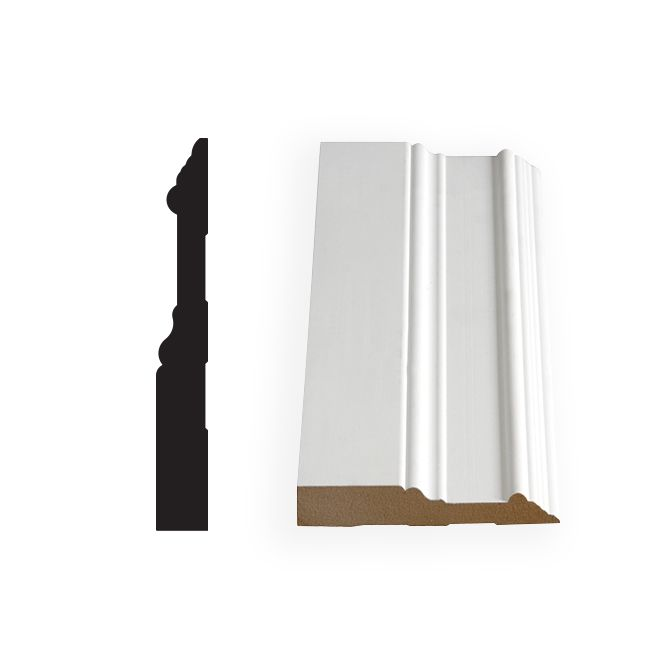 Alexandria Moulding Painted Fibreboard Base 5/8 Inches x 5 Inches (Price per linear foot)