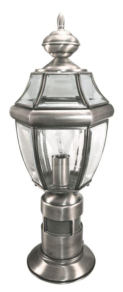 Lampe pour Poteau de 360 Degrés - argent antique