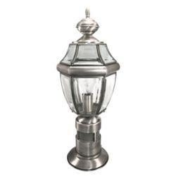 Heath Zenith 360 Degree Post Light - Antique Silver