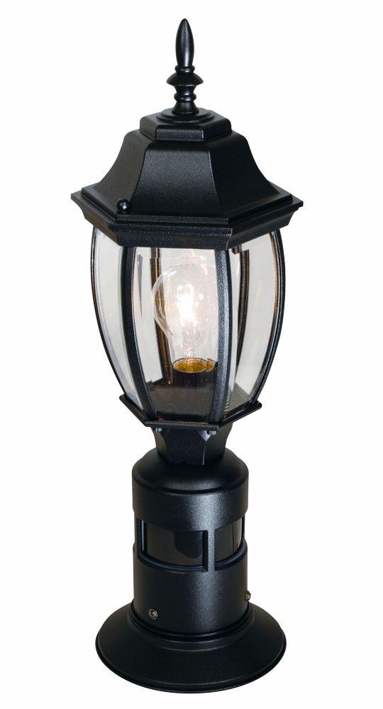360 Degree Motion Sensing Post Light - Black
