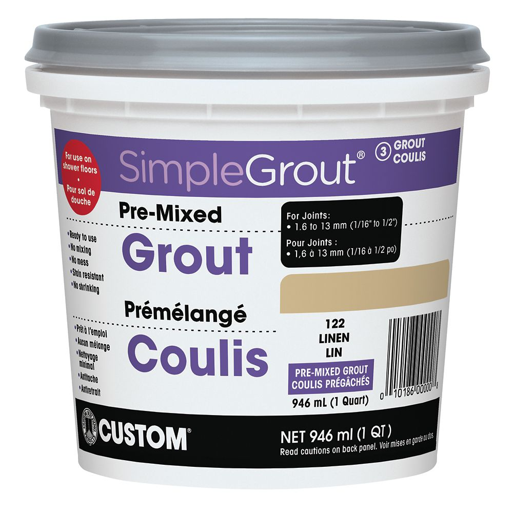 #122 Linen - Pre-Mixed Grout .946L