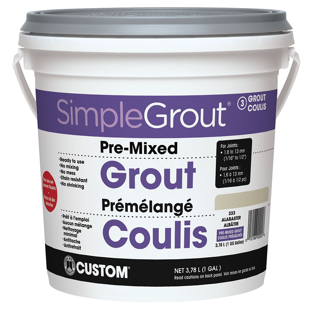 #333 Alabaster - Pre-Mixed Grout 3.9L CPMG3331 Canada Discount