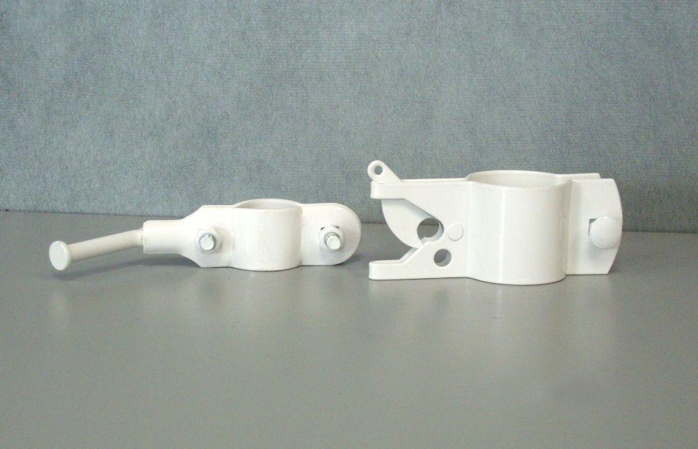 White Fgr Latch/Catch 1-1/4 inchX1-7/8 inch