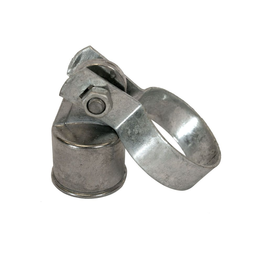Chain Link Rail End Assembly - Galvanized