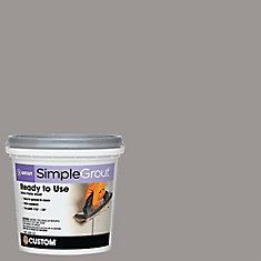 #165 Delorean Gray - Pre-Mixed Grout .946L