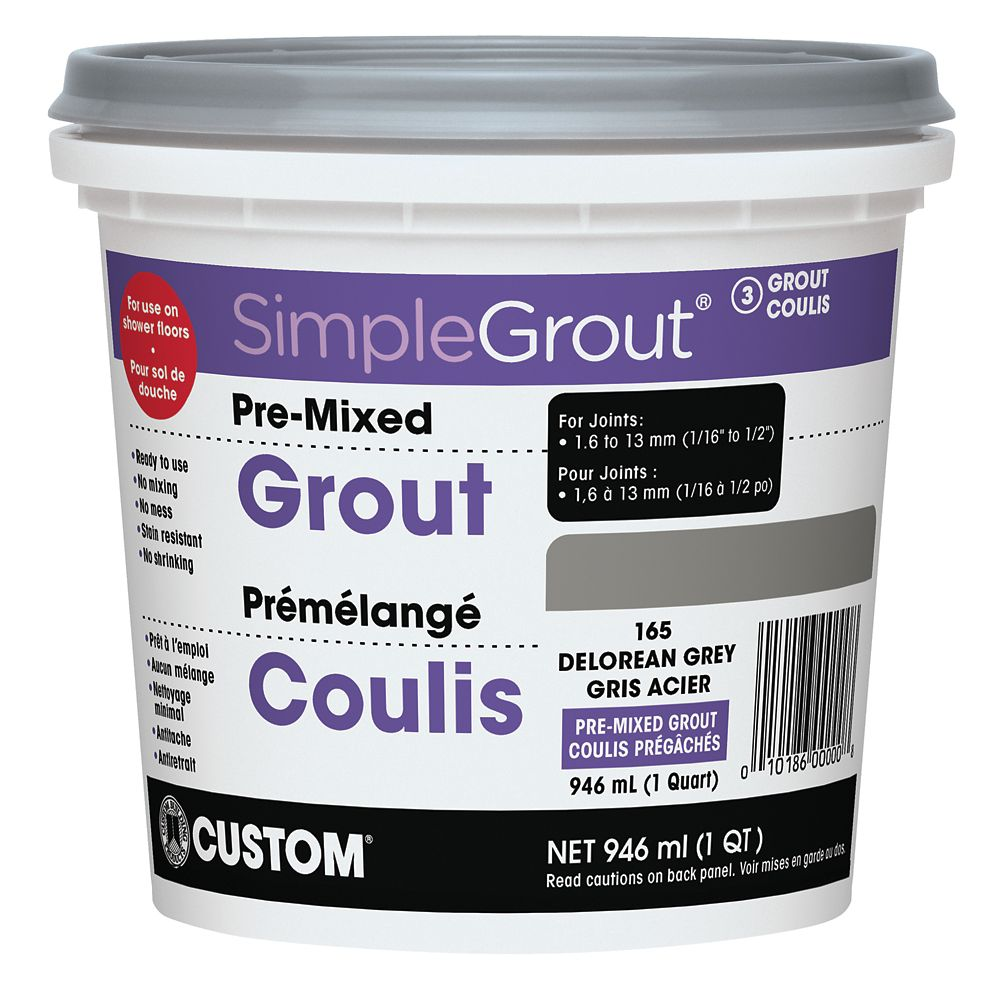 Custom Building Products #165 Delorean Gray - Pre-Mixed Grout .946L